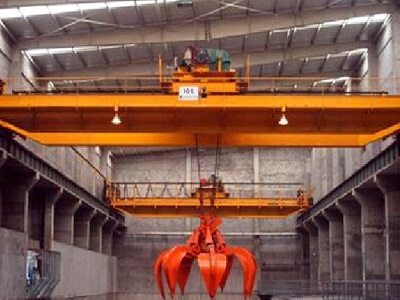 QZ model double girder bridge crane with grab bucket